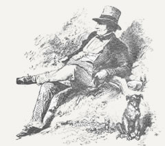 Washington Irving reclining